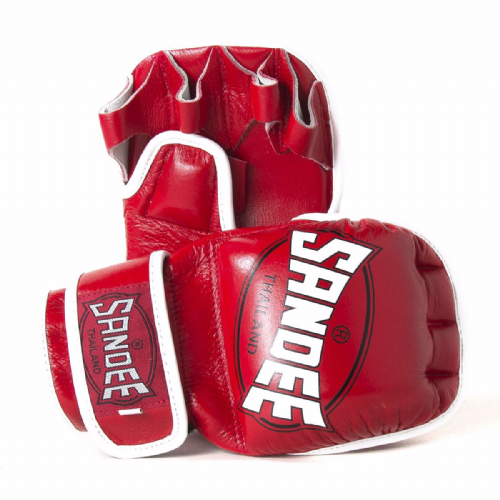 Sandee MMA Sparring Gloves - Red/White